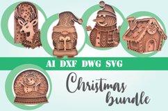 Christmas bundle layered 3d multi layer mandala svg xmas Product Image 1