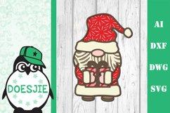 Gnome Christmas Layered 3d svg Multi layer mandala glowforge Product Image 1