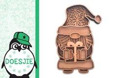 Gnome Christmas Layered 3d svg Multi layer mandala glowforge Product Image 3