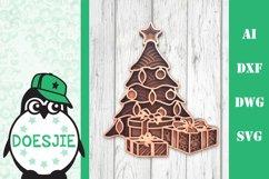 Christmas bundle layered 5 designs 3d mandala zentangle svg Product Image 4