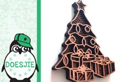 Christmas tree svg layered mandala multi layer tree gifts Product Image 5