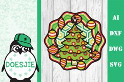 Christmas tree layered svg multi layer mandala 3D xmas tree Product Image 2
