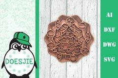 Christmas bundle 5 designs 3d layered mandala xmas svg Product Image 4