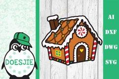 Gingerbread house Christmas svg layered mandala multi layer Product Image 2