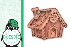 Gingerbread house Christmas svg layered mandala multi layer Product Image 3