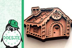 Gingerbread house Christmas svg layered mandala multi layer Product Image 6