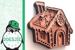 Gingerbread house Christmas svg layered mandala multi layer Product Image 4