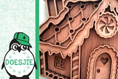 Gingerbread house Christmas svg layered mandala multi layer Product Image 5