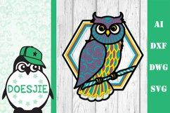 Layered owl mandala svg 3D bird SVG multi layer mandala Product Image 2