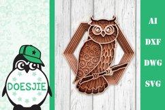 Layered owl mandala svg 3D bird SVG multi layer mandala Product Image 1