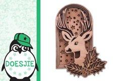 Layered reindeer Christmas mandala multi layer svg 3D deer Product Image 3