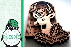Layered reindeer Christmas mandala multi layer svg 3D deer Product Image 5