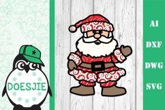 Christmas SVG Santa layered multi layer mandala xmas svg Product Image 2