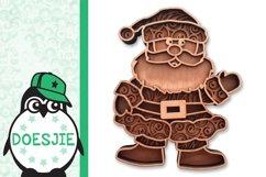 Christmas SVG Santa layered multi layer mandala xmas svg Product Image 3