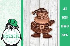 Christmas SVG Santa layered multi layer mandala xmas svg Product Image 1