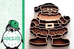 Christmas SVG Santa layered multi layer mandala xmas svg Product Image 4