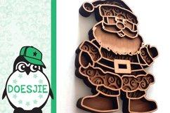 Christmas SVG Santa layered multi layer mandala xmas svg Product Image 5