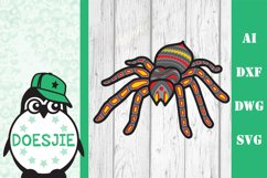Layered spider Halloween multi layer mandala spider svg 3D Product Image 2
