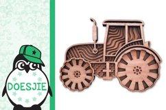 Tractor farmhouse 3d svg model multi layer mandala layered Product Image 3