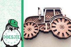 Tractor farmhouse 3d svg model multi layer mandala layered Product Image 4