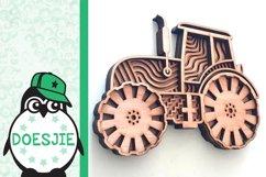 Tractor farmhouse 3d svg model multi layer mandala layered Product Image 5