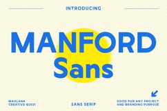 Manford Sans Font Product Image 1