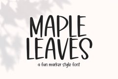 Maple Leaves - Fun Handwritten Font Product Image 1