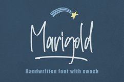 Marigold - Handwritten with Swash Product Image 1