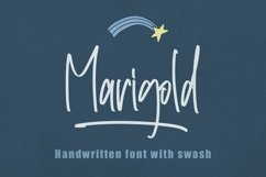 Web Font Marigold - Handwritten with Swash Product Image 1