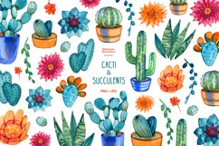 Watercolor cacti and succulents Product Image 1