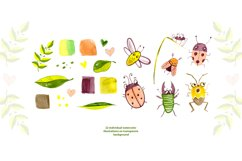 Cute insects clipart set Product Image 3