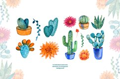Watercolor cacti and succulents Product Image 2