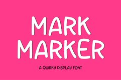 Mark Maker - a sweet display font Product Image 1
