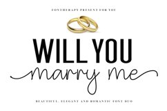 NEW ! Will You Marry Me - Font Duo Product Image 1