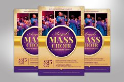 Mass Choir Concert Flyer Word Publisher Template Product Image 5