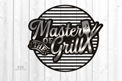 Master Of The Grill BBQ Sign SVG Glowforge Files Bundle Product Image 2