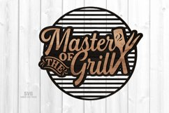 Master Of The Grill BBQ Sign SVG Glowforge Files Bundle Product Image 4
