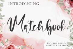 Matchbook - Girly Script Font Product Image 1