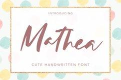 Mathea - Cute Handwritten Font Product Image 1