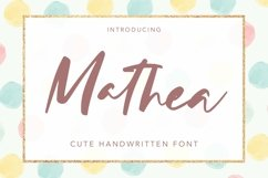 Web Font Mathea - Cute Handwritten Font Product Image 1
