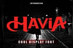 Web Font Mavia - Cool Display Font Product Image 1