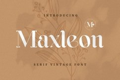 Web Font Maxleon Product Image 1