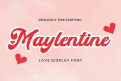 Web Font Maylentine - Valentines Font Product Image 1
