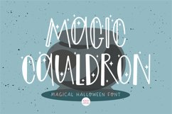 MAGIC CAULDRON Halloween Witch Font Product Image 1