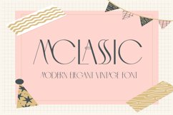 MCLASSIC FONT Product Image 1
