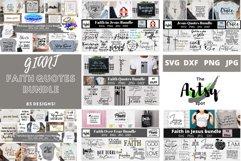 MEGA Faith quotes Bundle, Christian quotes bundle, faith svg Product Image 1