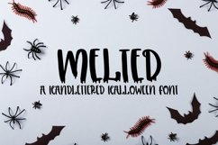 Web Font Melted - A Handlettered Halloween Font Product Image 1