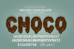 Melted Chocolate Font | Open Type & Woff Product Image 2
