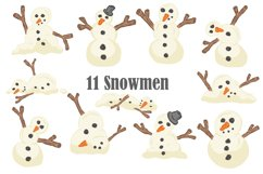 Melting Snowmen Collection Make Your Own Christmas Cartoon Product Image 2
