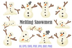 Melting Snowmen Collection Make Your Own Christmas Cartoon Product Image 1